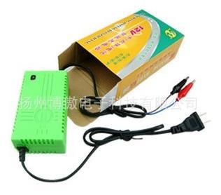 12v2a充电器摩托车电瓶蓄电池鳄鱼夹子充电器外贸