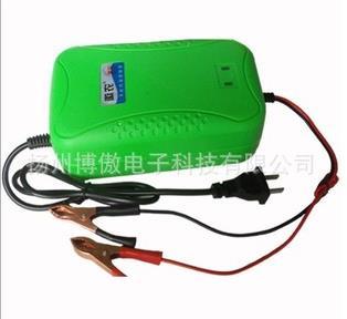 批发汽车电瓶12v6a充电器蓄电池带铜夹外贸充电器12v